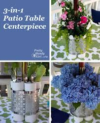 Outdoor Vase Outdoor Patio Table Planter Vase And Serving Station A