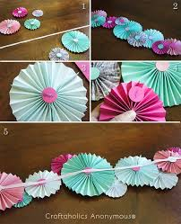 paper fan decorations paper fan garland tutorial garlands fans and easy