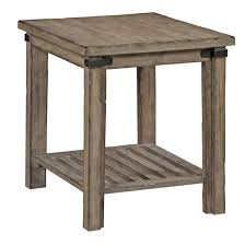 Rustic Round End Table Rustic Weathered Gray End Table By Kincaid Furniture Wolf And