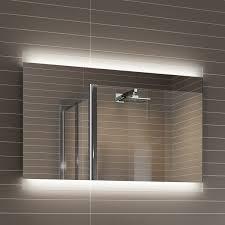 Bathroom Demister Mirror Bathroom Led Lights Behind Bathroom Mirror Home Design Awesome