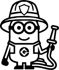 minion fire department coloring page wecoloringpage