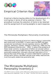 empirical criterion keying psychology u0026 cognitive science