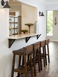 furniture interesting bar counter using wall sconce and wooden