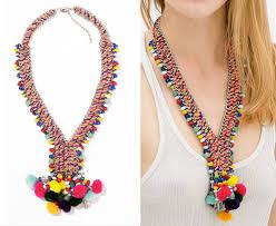 ethnic necklace design images Jc100 new fashion za design ethnic pom pom bead necklace colorful jpg