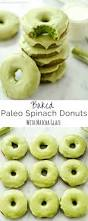 baked paleo spinach donuts with matcha glaze are a healthy