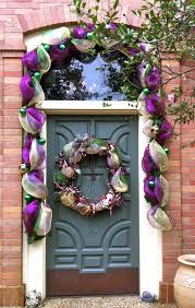 mardi gras door decorations do it yourself mardi gras door decor diy tutorial and image via the