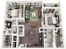 appartement avec une chambre 50 plans 3d d appartement avec 2 chambres bedroom apartment