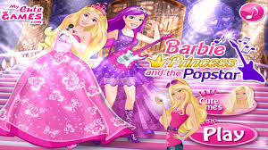 barbie princess popstar dress games barbie game