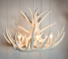 Chandelier Canopy by White Antler Chandelier Displaying Unique And Rustic Details In