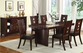 Dining Room Furniture Server 2175w Modern Dining Table W Server In Brown By Poundex