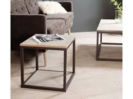 table bout de canap meuble bout de canapé verre bois design ou retro