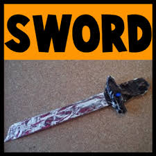 how to make a toy sword for halloween or for play kids crafts