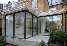 glass room extension style home design modern under glass room