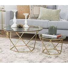 gold and glass coffee table nesting coffee table weliketheworld com
