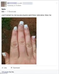 Nail Tech Meme - facebook group goes into meltdown over botched acrylics photo