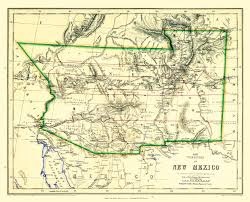 Old Mexico Map by Old State Map New Mexico Territory Johnston 1857