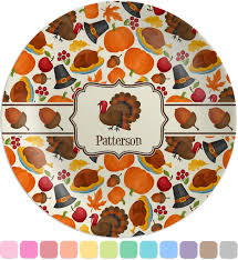 traditional thanksgiving melamine plate personalized