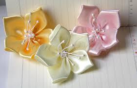 satin ribbon flowers satin ribbon flowers 5 pcs 100 handmade on luulla