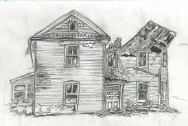 drawing a house the b roll archives drawing 054 old broken down house
