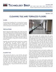 cleaning tile and terrazzo floors international masonry institute