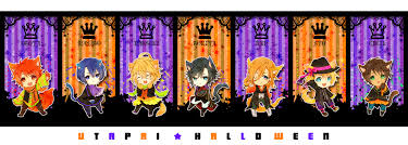 happy halloween no background uta pri halloween chibi w uta no prince sama holidays