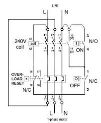 single phase motor starter wiring diagram and dol gooddy org