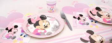 baby minnie mouse 1st birthday minnie mouse 1st birthday party supplies party delights