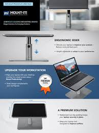 amazon com mount it laptop stand for macbook and pc monitor