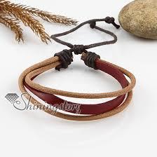 leather bracelet designs images Adjustable triple leather bracelets for men and women wholesale jpg