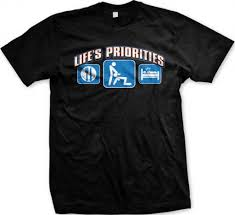 martini meme amazon com life u0027s priorities head t shirt clothing quirky