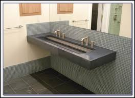 Trough Bathroom Sink With Two Faucets by Trough Bathroom Sink With Two Faucets Canada Bathroom Home