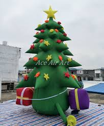 aliexpress com buy inflatable christmas tree led outdoor