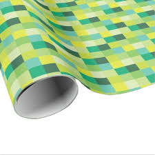 pixel wrapping paper green and yellow pixelated pattern pixel wrapping paper