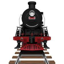 retro steam train with coach royalty free cliparts vectors and