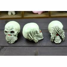 3pcs set human skull decoration prop skeleton head halloween 3pcs set human skull decoration prop skeleton head halloween cosplay home decor