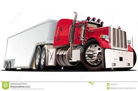 vector cartoon semi truck royalty free stock photography image