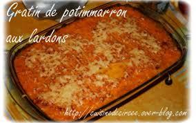 comment cuisiner les potimarrons recette gratin de potimarron aux lardons 750g