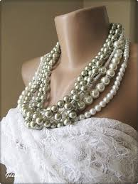 pearl necklace wedding images Wedding ivory green mold glass pearl necklace chic selections shop jpg