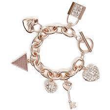 rhinestone bracelet charms images Guess rose gold tone rhinestone charm bracelet 35 liked on jpg