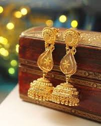 gold jhumka earrings gold antique jhumka design 2017 ear rings gold and ring