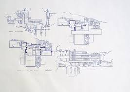Kentuck Knob Floor Plan Frank Lloyd Wright Falling Water House Upper By Blueprintplace