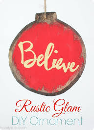 rustic glam diy ornaments lovely etc