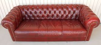 Ebay Leather Sofas by Chesterfield Style Natuzzi Italian Leather Sofa Red Button Back