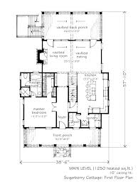 sugarberry cottage floor plan 1 825 sq ft sugarberry cottage l mitchell ginn associates