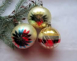 pink flocked glass christmas ornaments shiny brite vintage