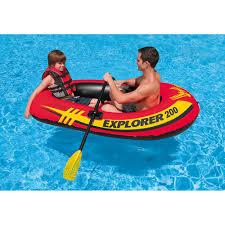 amazon com intex explorer 200 2 person inflatable boat set with