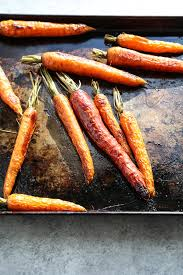 sesame roasted whole carrots recipe paleo