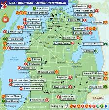 peninsula michigan map michigan lower peninsula golf map with top golf courses