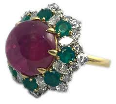 emerald amethyst rings images 1965 bulgari ruby emerald diamond gold dolce vita ring for sale at jpg