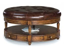 coffee table leather top furniture leather top coffee table ideas brown round ottoman